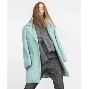 ZARA Turquoise Wool Coat